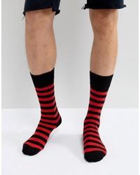 rote horizontal gestreifte Socken von Dr. Martens