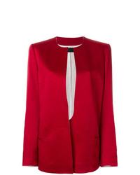rote Jacke mit einer offenen Front von Haider Ackermann