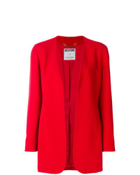 rote Jacke mit einer offenen Front von Moschino Vintage