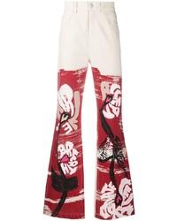 rote Jeans mit Blumenmuster von Marni