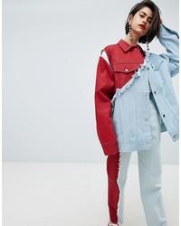 Modische rote Jeansjacke für Damen für Winter 2019 kaufen   Damenmode 2127285047