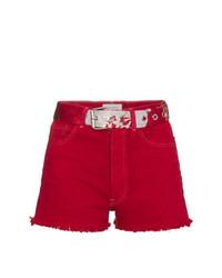 rote Jeansshorts von Beau Souci
