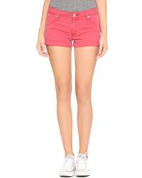 rote Jeansshorts von Hudson