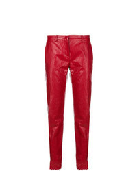 rote Karottenhose aus Leder