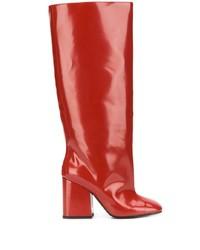 rote kniehohe Stiefel aus Leder von Marni