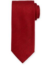 rote Krawatte mit Karomuster