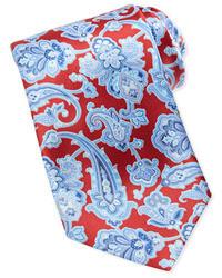 rote Krawatte mit Paisley-Muster