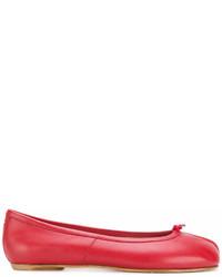 rote Leder Ballerinas von Maison Margiela