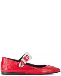 rote Leder Ballerinas von MCQ