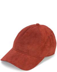 rote Leder Baseballkappe von Rag & Bone
