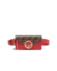 rote Leder Bauchtasche von Fendi