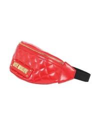 rote Leder Bauchtasche von Love Moschino