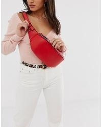 rote Leder Bauchtasche von Melie Bianco