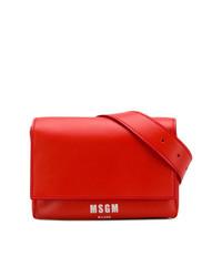 rote Leder Bauchtasche von MSGM