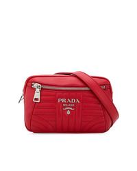 rote Leder Bauchtasche von Prada