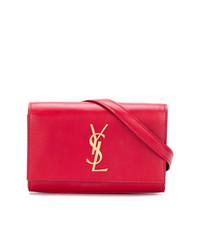 rote Leder Bauchtasche von Saint Laurent