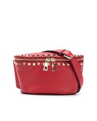 rote Leder Bauchtasche von Valentino