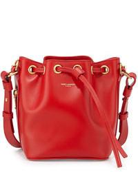 rote Leder Beuteltasche