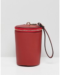 rote Leder Beuteltasche von French Connection