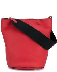rote Leder Beuteltasche von Marni
