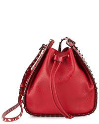 rote Leder Beuteltasche von Valentino Garavani
