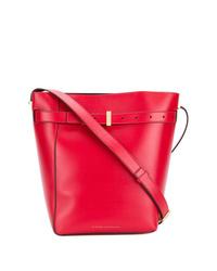 rote Leder Beuteltasche von Victoria Beckham