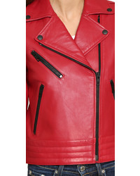 rote Leder Bikerjacke von Rag & Bone