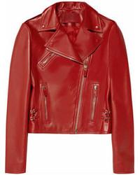 rote Leder Bikerjacke von Valentino