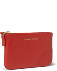 rote Leder Clutch Handtasche