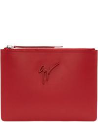 rote Leder Clutch Handtasche von Giuseppe Zanotti