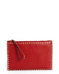 rote Leder Clutch