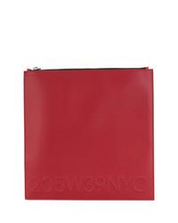 rote Leder Clutch von Calvin Klein 205W39nyc