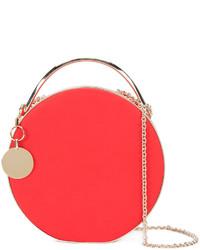 rote Leder Clutch von Eddie Borgo