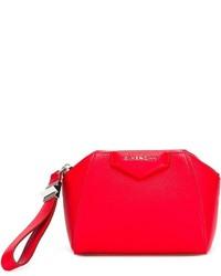 Rote Leder Clutch von Givenchy
