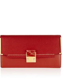 rote Leder Clutch von Lanvin