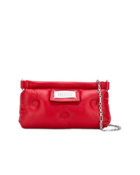 rote Leder Clutch von Maison Margiela