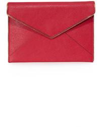 rote Leder Clutch von Rebecca Minkoff