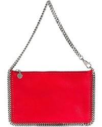 rote Leder Clutch von Stella McCartney