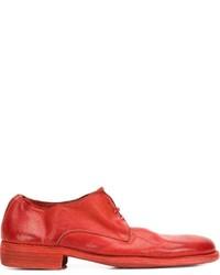 rote Leder Derby Schuhe