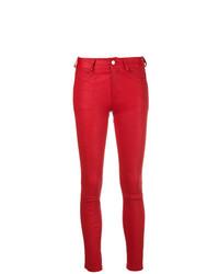 rote Leder enge Jeans von Zadig & Voltaire