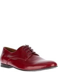 rote Leder Oxford Schuhe von B Store