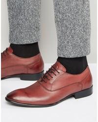 rote Leder Oxford Schuhe von Base London
