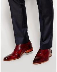 rote Leder Oxford Schuhe von Jeffery West