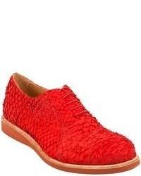 rote Leder Oxford Schuhe