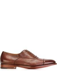 rote Leder Oxford Schuhe von Santoni