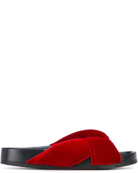 rote Leder Pantoletten von Chloé