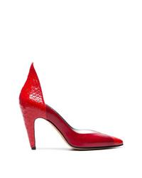 rote Leder Pumps mit Schlangenmuster von Givenchy