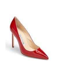 Rote Leder Pumps