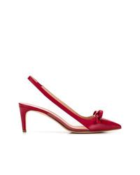 rote Leder Pumps von RED Valentino
