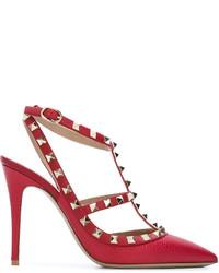 rote Leder Pumps von Valentino Garavani